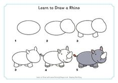 Learn to Draw a Rhino