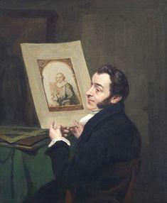 Pieter Christoffel Wonder (Utrecht 1780-1852 Amsterdam) Portrait of a man, probably printmaker and art dealer Christiaan Josi (Utrecht 1768-1828 London), Canvas, 43.8 x 36.5 cm; signed and dated 1826.