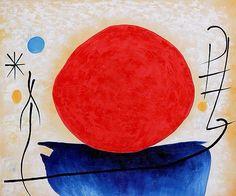 Joan Miró - Sol rojo, 1950                                                                                                                                                                                 Mais