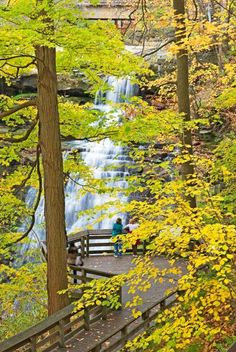 Brandywine Falls in Cuyahoga Valley National Park. Just one of the cool things to see along the Ohio and Erie Canalway.