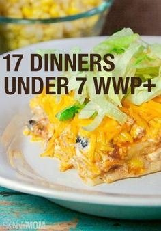 Not on weight watchers but there's some yummy low cal dinners in here! 17 under 7 points weight watchers dinners! Great ideas for dinner. Healthy Recipes, Ww Recipes, Skinny Recipes, Light Recipes, Healthy Cooking, Healthy Eating, Cooking Recipes, Recipies, Points Plus Recipes