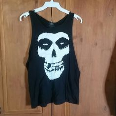 SUN DIEGO  misfits tank Black tank with misfit on front in white  made in USA by SUN DIEGO 100%COTTON medium sun diego Tops Tank Tops