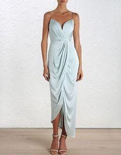 Zimmermann-Silk-Plunge-Dress-Size-3-Sage-415-Sold-Out-Free-Express-Post