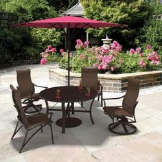 Corsica Woven Outdoor Dining Chairs and Swivel Rockers | Tropitone