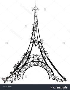 Картинки по запросу эйфелева башня рисунок