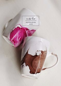 DIY Projects for Teenagers - DIY Watercolor Mug - Cool Teen Crafts Ideas for Bedroom Decor, Gifts, Clothes and Fun Room Organization. Summer and Awesome School Stuff http://diyjoy.com/cool-diy-projects-for-teenagers