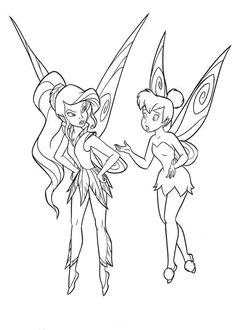 Free Printable Tinkerbell Cartoon Coloring Pages