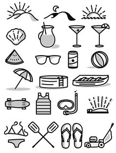Free Summer Icon Set on Behance