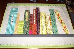 Bookshelf Mini-Quilt Top