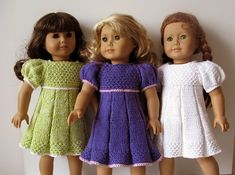 """This little doll's dress features my version of faux box pleats and short puff sleeve as well as some """"rice"""" stitch."""