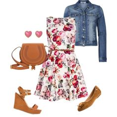 """""""Spring dress outfit"""" by anamariameciu on Polyvore. Pear shaped body Outfit"""