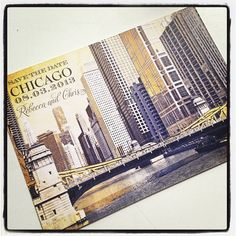 Chicago Save the Date... Chicago River at LaSalle Street... www.ct-designs.com 2017 Wedding, Our Wedding, Chicago Save The Date, Chicago River, Wedding Save The Dates, Wedding Paper, Breathe, Stationary, Brides