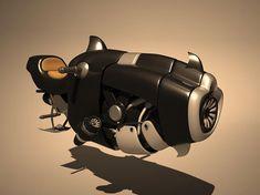3ds max sci fi hover bike - Hover Bike... by LSDhillon