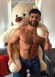 First Class Males Hairy Men, Bearded Men, My Handsome Man, Cuddle Buddy, Little Bit, Love Bear, Hairy Chest, Attractive Men, Muscle Men