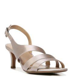 6535af4ee4fc Shop for Naturalizer Taimi Metallic Satin Slingback Dress Sandals at  Dillards.com. Visit Dillards