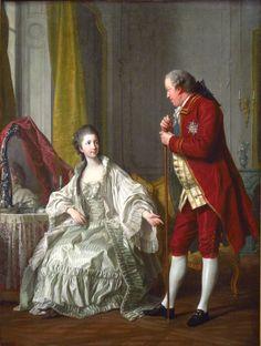 Louis-Michel van Loo (1707–1771)  : Le Marquis de Marigny et sa femme