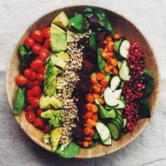 Super Saturday Salad | The Collegiate Vegan. Protein: sunflower seeds