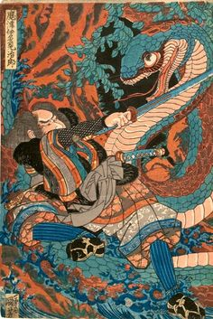 Kuniyoshi_108_Suikoden_Matsui_Tamijiro_Snake.jpg (568×850)