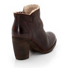 Boots en cuir, fourrée, à talon DKODE