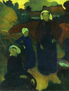 "Maurice Denis "" 1890 Bretons oil on canvas"""
