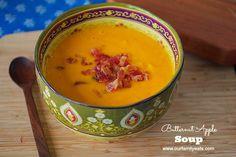 Easy Creamy Butternut Apple Soup (gluten free & dairy free)