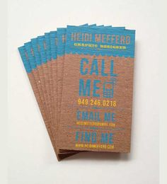 kraft brown recycled paper business cards