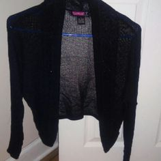 Say What? U.S.A Cute, all black with silver glitter throughout the Cardigan. Say What? U.S.A Sweaters Cardigans