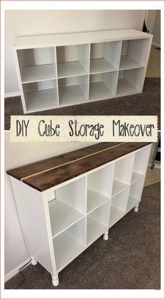 Diy Furniture Projects, Repurposed Furniture, Furniture Makeover, Home Projects, Bookshelf Makeover Diy, Diy Storage Furniture, Rustic Painted Furniture, Diy Living Room Furniture, Cube Furniture
