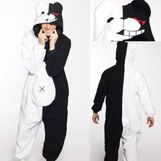 HKSNG New 2017 Adult Winter Monokuma Danganronpa Monomi Pajamas Kumamon Bear Black Bear Rabbit Animal Kigurumi Onesies Homewear Cosplay Outfits, Anime Outfits, Aesthetic Fashion, Aesthetic Clothes, Anime Onesie, Monokuma Danganronpa, Sloth Pajamas, Cute Simple Outfits, Anime Inspired Outfits