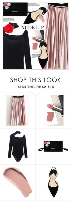 """""""The Perfect Nude Lip"""" by paculi ❤ liked on Polyvore featuring beauty, Sigma, Burberry, Paul Andrew, Johnny Loves Rosie and nudelip"""