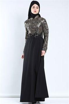 Tesettür Giyim Abiye Modelleri En Ucuz Fiyatlara En Kaliteli Ürünler Moda Sevinç'de ModaSevinç, 99,9 TL, Varak Şeritli Abiye Elbise (Fuşya)