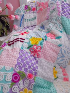 Chenille Quilt~how fun would this be in the most perfect colors for spring/summer. Maybe beige, white and a pastel such as green, pink or blue.