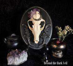 Your place to buy and sell all things handmade World Of Interiors, Fox Skull, Real Skull, Bone Crafts, Skull Decor, European Home Decor, Gothic House, Animal Skulls, Skull And Bones