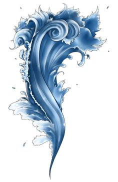 love this water tattoo... the lines are beautiful!