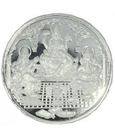 Buy personalized Religious Lakshmi, Saraswathi & Vinayagar coins online. 100% pure 999 silver coin. All at Lowest price.