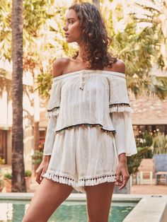 Fortunate One |  Acapulco Playsuit White