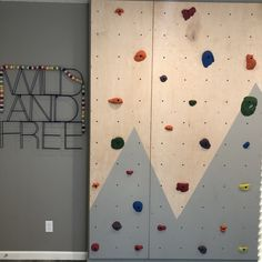 How to build a DIY kids climbing wall Learn how to build a DIY kids climbing wall that can continue to grow with your kids. Toddler Climbing Wall, Kids Rock Climbing, Indoor Climbing Wall, Diy Pared, Lac Champlain, Bouldering Wall, Playroom Furniture, Toy Rooms, Diy Wall