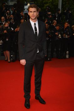 Liam Hemsworth in #dolcegabbana suit attends the Premiere of 'Jimmy P. (Psychotherapy Of A Plains Indian)' during The 66th Annual Cannes Film Festival