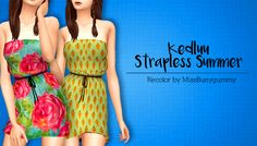 Miss Bunny Gummy : Kedluu's Strapless Summer recolored in 24 patterns.