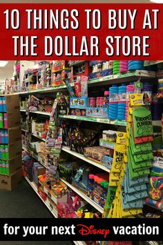 Looking for easy budgeting ideas for your next Disney vacation? Here's 10 must-buy things at the dollar store to pack and take with you to save a ton of money! Disney On A Budget, Disney Vacation Planning, Vacation Planner, Disney World Planning, Walt Disney World Vacations, Disney Resorts, Vacation Ideas, Disney World Souvenirs, Disney Travel