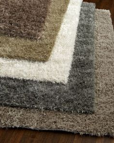 -3PBW Exquisite Rugs Neutral Shag Rug