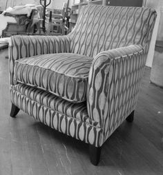 Debussey Chair (not buttoned). Not in fabric shown.