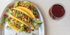 Pairing Crunchy Tacos with California Pinot Noir Wine Enthusiast Magazine, Pinot Noir, Wine Drinks, Pork Chops, Tacos, Dinner Recipes, Pasta, California, Ethnic Recipes