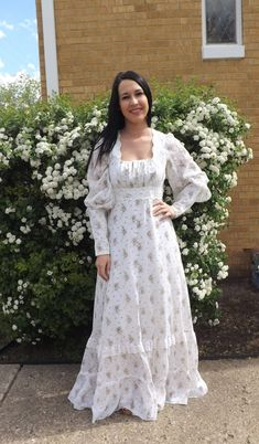 70s Wedding Dress Gunne Sax Floral 1970s Victorian by soulrust