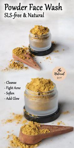 Natural Face Cleanser, Natural Skin Care, Best Natural Face Wash, Organic Face Wash, Natural Health, Homemade Face Wash, Homemade Face Cleanser, Powder Soap, Diy Skin Care