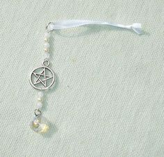 Beaded Pentagram Icicle Ornament or Sun Catcher or Sun Catcher