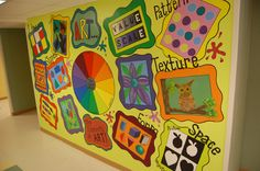 Art elements and principles mural I painted outside my classroom