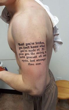 olio.tattoo Quote Tattoo by Art  from 7 Sins Tattoo - West Lafayette, IN #quote -- More at: https://olio.tattoo/tattoo-images/mentions:quote
