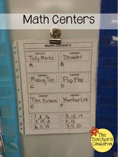 The Teacher's Cauldron: How I Manage Math Centers - and many other great math ideas!!, not very organized though but good ideas, also NOT free. bummer. :(