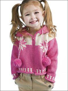 Knitting - Children's Corner - Kids' Clothing Knitting Patterns - Snowflakes Hoodie - #FK00584